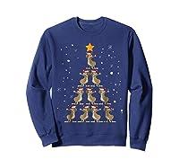 Dabbing Kangaroo Christmas Dab Christmas Tree Shirts Sweatshirt Navy