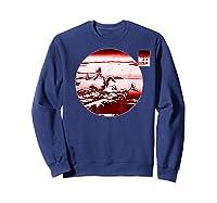 Famous Vintage Japanese Woodblock Art New Year's Sunrise Shirts Sweatshirt Navy