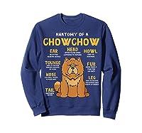 Chow Chow Funny Anatomy Of Mom Dad Dog Gift T-shirt Sweatshirt Navy