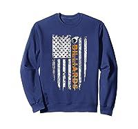 Billiards American Flag T-shirt Billiard Ts Sweatshirt Navy