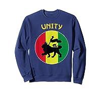 Rasta Live Up Unity Design Shirts Sweatshirt Navy