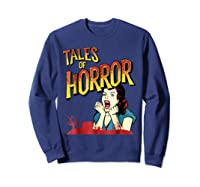 Vintage Horror Movie Poster Funny Halloween Shirts Sweatshirt Navy