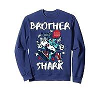 Brother Shark Doo Doo Bro Fun Uncle Birthday Gift Idea Shirts Sweatshirt Navy