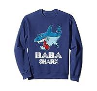 Baba Shark Shirts Sweatshirt Navy