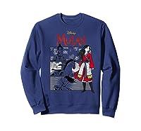 Mulan Live Action Comic Panels Shirts Sweatshirt Navy