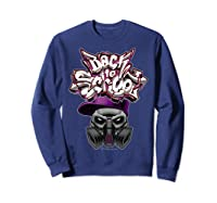Back To School (in Purple) T-shirt Sweatshirt Navy