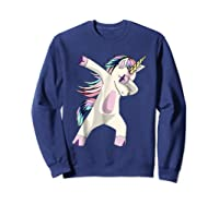 Dabbing Unicorn For Daughter Son Granddaughter Daddy Shirts Sweatshirt Navy