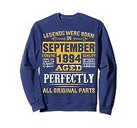 Vintage September 1994 Birthday Gift For 25 Yrs Old D1 Shirts Sweatshirt Navy