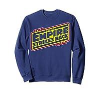 Star Wars The Empire Strikes Back Vintage Logo T-shirt Sweatshirt Navy