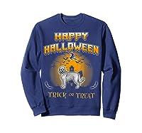 Cockapoo Dog Happy Halloween Shirts Sweatshirt Navy