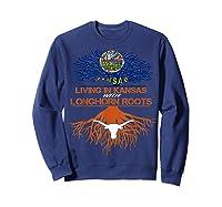 Texas Longhorns Living Roots Apparel Shirts Sweatshirt Navy