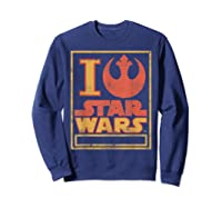 S Rebel Alliance Love Shirts Sweatshirt Navy