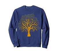 Binary Tree Computer Coding Shirts Sweatshirt Navy