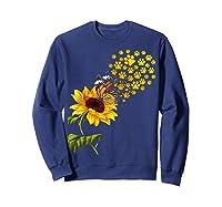 Dog Paw Sunflower You Are My Sunshine T-shirt Sweatshirt Navy