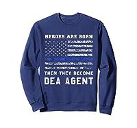 Agent Hero Born As An Officer Thin Blue Line Shirts Sweatshirt Navy