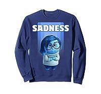 Pixar Inside Out Sadness Portrait Shirts Sweatshirt Navy