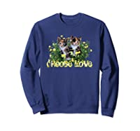 Calico Cats In The Roses By Bonnie Vent Shirts Sweatshirt Navy