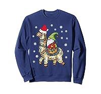 Santa Hat Christmas - Santa Gnome T-shirt Sweatshirt Navy