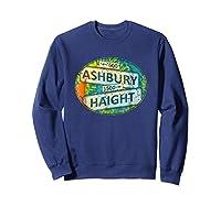 60s 70s Retro Flower Power Haight Ashbury Street Signs 1 Shirts Sweatshirt Navy