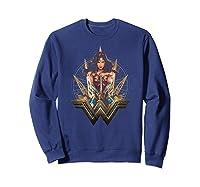 Wonder Woman Movie Wonder Blades T-shirt Sweatshirt Navy