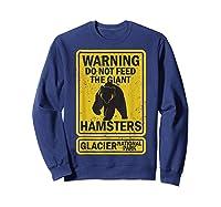 Funny Glacier National Park Grizzly Brown Bear Souvenir Gift Shirts Sweatshirt Navy