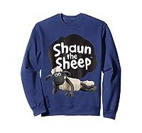 Shaun The Sheep Alt Logo With Shaun Shirts Sweatshirt Navy
