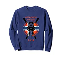 Alpine Skiing Attacking Vikings 2018 Shirts Sweatshirt Navy