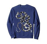Snake Reptile Boas Herpetology Illustration Shirts Sweatshirt Navy