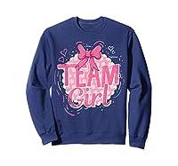 Team Girl Gender Reveal Party Pregancy T-shirt Sweatshirt Navy