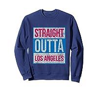 Straight Outta Los Angeles Basketball Shirts Sweatshirt Navy
