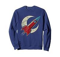Retro Red Rocket T-shirt Sweatshirt Navy