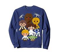 S Cute Kawaii Style Heroes Graphic C1 Shirts Sweatshirt Navy