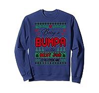 Being Bumpa Best Job I Ever Had Christmas Gift Premium T-shirt Sweatshirt Navy