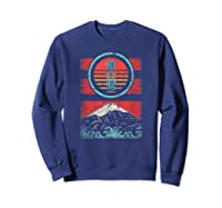 Bushido Kanji Japan Samurai Spirit Retro 80s Style Gift Shirts Sweatshirt Navy