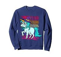 Halloween Unicorn Pride Colors Shirts Sweatshirt Navy
