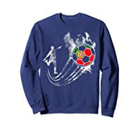 Portugal Soccer Team T-shirt For Fans And Players Sweatshirt Navy