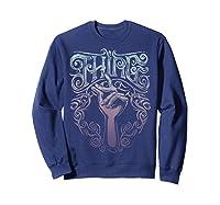 Addams Family Thing Artsy Gradient Sketch Shirts Sweatshirt Navy
