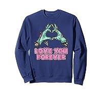 Love You Forever Zombie Heart T-shirt Sweatshirt Navy