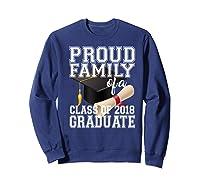 Class Of 2018 Shirt Graduate Graduation Proud Family Sweatshirt Navy