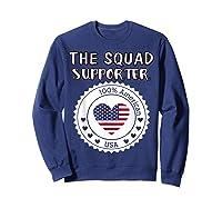 Proud Supporter Of Squad Aoc Pressley Omar Tlaib Shirts Sweatshirt Navy