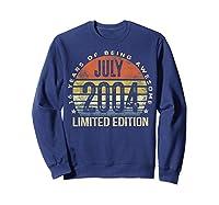 July 2004 Limited Edition 16th Birthday 16 Year Old Gift Shirts Sweatshirt Navy