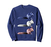 American Flag Squirrel Usa 4th Of July Squirrel Lovers Gift Shirts Sweatshirt Navy