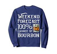 Weekend Forecast 100 Percent Of Bourbon Whiskey Shirts Sweatshirt Navy