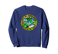Sacrato California City Seal I Love Sacrato Pride Shirts Sweatshirt Navy