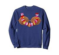 Mermaid Coconut L T-shirt Beach Summer Bra Tee Sweatshirt Navy