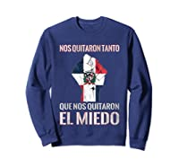 Dominican Republic Flag Fist Dominican Election 2020 Protest T-shirt Sweatshirt Navy