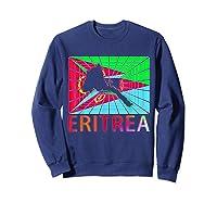 Eritrea Map Eritrean Shirts Sweatshirt Navy