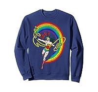 Wonder Woman Rainbow Love Shirts Sweatshirt Navy