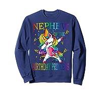 Nephew Of The Birthday Princess Unicorn Girl T-shirt T-shirt Sweatshirt Navy