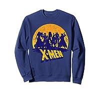 Marvel X- Logo And Mutants Classic T-shirt Sweatshirt Navy